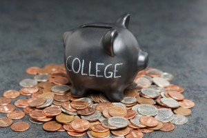 Piggy bank for saving up for your college budget.